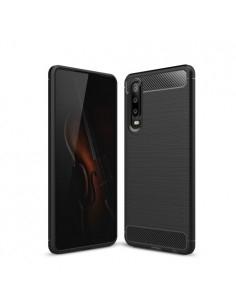 Huawei P30 karbon mintás tok - FEKETE