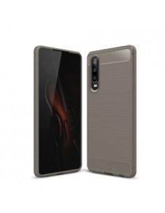 Huawei P30 karbon mintás tok - SZÜRKE