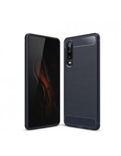 Huawei P30 karbon mintás tok - KÉK