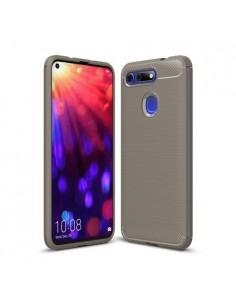 Huawei Honor View 20 / V20 karbon mintás tok - SZÜRKE