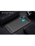 Huawei P30 Lite karbon mintás tok - FEKETE