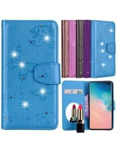 Tükrös csillámos telefontok Samsung Galaxy S10 Plus telefonhoz - KÉK