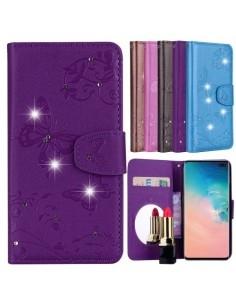 Tükrös csillámos telefontok Samsung Galaxy S10 Plus telefonhoz - LILA