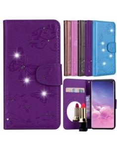 Tükrös csillámos telefontok Samsung Galaxy S10e telefonhoz - LILA