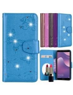 Tükrös csillámos telefontok Huawei Y6 (2018) / Honor 7A telefonhoz - KÉK
