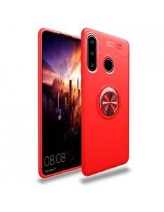 Huawei P30 Lite gyűrűs tok - PIROS