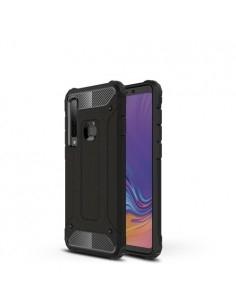 Kemény műanyag és rugalmas TPU hibrid tok Samsung Galaxy A9 (2018) telefonhoz - FEKETE