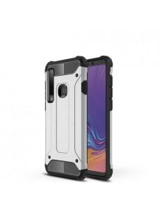 Kemény műanyag és rugalmas TPU hibrid tok Samsung Galaxy A9 (2018) telefonhoz - EZÜST