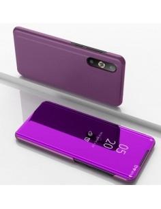 Flip telefontok átlátszó előlappal Samsung Galaxy A50 készülékhez - LILA