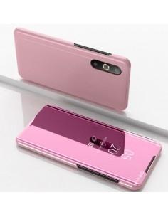 Flip telefontok átlátszó előlappal Samsung Galaxy A50 készülékhez - RÓZSAARANY