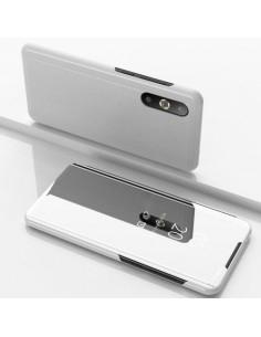 Flip telefontok átlátszó előlappal Samsung Galaxy A50 készülékhez - EZÜST