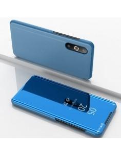 Flip telefontok átlátszó előlappal Samsung Galaxy A50 készülékhez - VILÁGOSKÉK