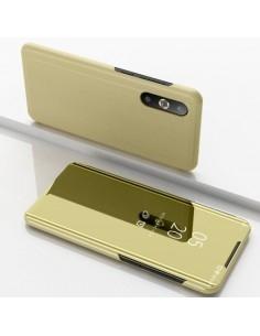 Flip telefontok átlátszó előlappal Samsung Galaxy A50 készülékhez - ARANY