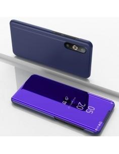 Flip telefontok átlátszó előlappal Samsung Galaxy A50 készülékhez - SÖTÉTLILA