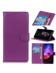 Oldalra nyíló tok Samsung Galaxy A50 telefonhoz - LILA