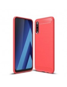 Samsung Galaxy A50 karbon mintás tok - PIROS