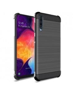 IMAK Vega karbon mintás tok Samsung Galaxy A40 készülékhez - FEKETE
