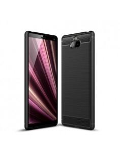 Sony Xperia 10 Plus karbon mintás tok - FEKETE
