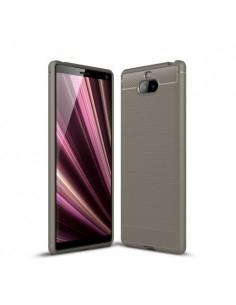 Sony Xperia 10 Plus karbon mintás tok - SZÜRKE