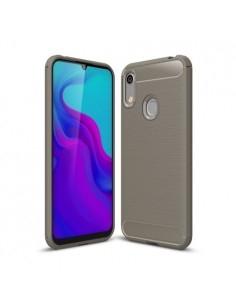 Huawei Y6 (2019) / Honor 8A karbon mintás tok - SZÜRKE