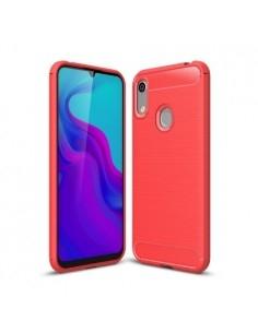 Huawei Y6 (2019) / Honor 8A karbon mintás tok - PIROS