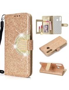 Tükrös csillámos tok Huawei P30 Lite telefonhoz - ARANY