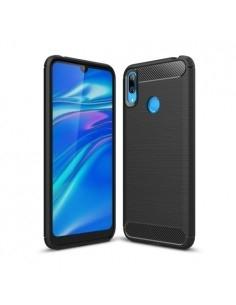 Huawei Y7 (2019) karbon mintás tok - FEKETE