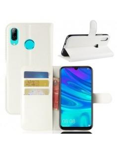 Oldalra nyíló tok Huawei Y7 (2019) telefonhoz - FEHÉR