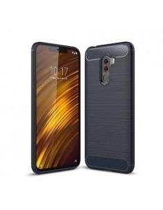 Xiaomi Pocophone F1 karbon mintás tok - KÉK