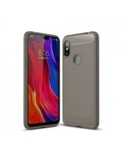 Xiaomi Redmi Note 6 Pro karbon mintás tok - SZÜRKE