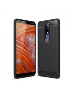 Nokia 3.1 Plus karbon mintás tok - FEKETE