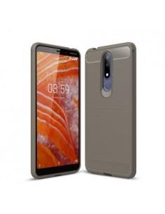 Nokia 3.1 Plus karbon mintás tok - SZÜRKE
