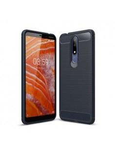 Nokia 3.1 Plus karbon mintás tok - KÉK