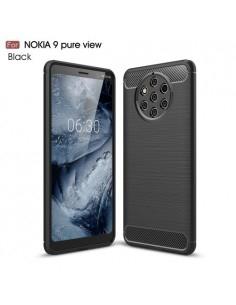 Nokia 9 PureView karbon mintás tok - FEKETE