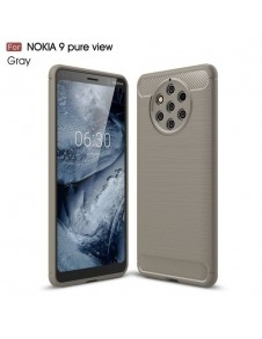 Nokia 9 PureView karbon mintás tok - SZÜRKE