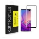 AMORUS kijelzővédő karcálló edzett üveg Samsung Galaxy S10 Plus típusú telefonhoz