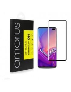AMORUS kijelzővédő karcálló edzett üveg Samsung Galaxy S10 típusú telefonhoz