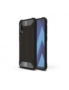 Kemény műanyag és rugalmas TPU hibrid tok Samsung Galaxy A50 telefonhoz - FEKETE