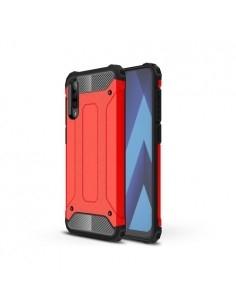 Kemény műanyag és rugalmas TPU hibrid tok Samsung Galaxy A50 telefonhoz - PIROS