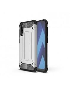 Kemény műanyag és rugalmas TPU hibrid tok Samsung Galaxy A50 telefonhoz - EZÜST