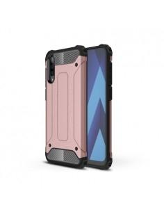 Kemény műanyag és rugalmas TPU hibrid tok Samsung Galaxy A50 telefonhoz - RÓZSAARANY