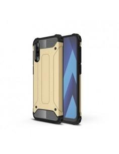 Kemény műanyag és rugalmas TPU hibrid tok Samsung Galaxy A50 telefonhoz - ARANY