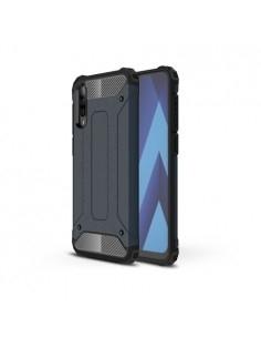 Kemény műanyag és rugalmas TPU hibrid tok Samsung Galaxy A50 telefonhoz - SÖTÉTKÉK