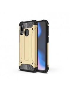 Kemény műanyag és rugalmas TPU hibrid tok Samsung Galaxy A40 telefonhoz - ARANY