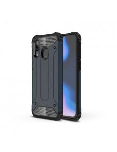 Kemény műanyag és rugalmas TPU hibrid tok Samsung Galaxy A40 telefonhoz - SÖTÉTKÉK
