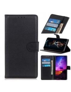Oldalra nyíló tok Samsung Galaxy A20e telefonhoz - FEKETE