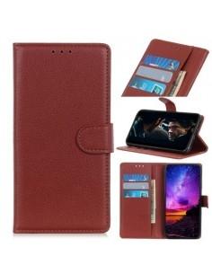 Oldalra nyíló tok Samsung Galaxy A20e telefonhoz - BARNA