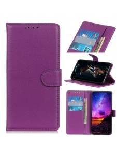 Oldalra nyíló tok Samsung Galaxy A20e telefonhoz - LILA