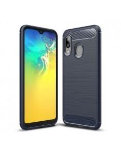 Samsung Galaxy A20e karbon mintás tok - KÉK