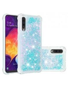 Mozgó csillámos telefontok Samsung Galaxy A50 készülékhez - KÉK